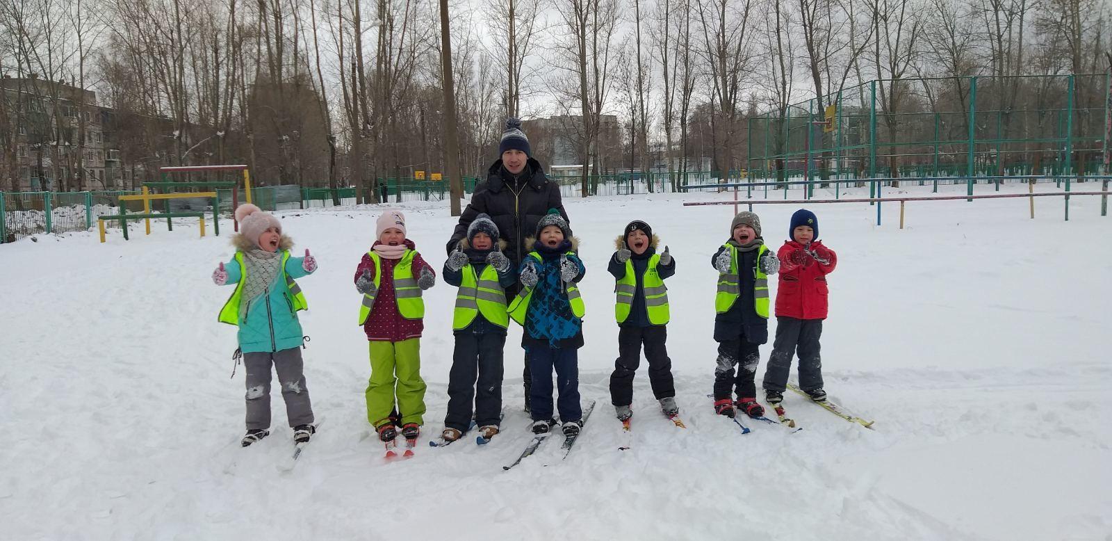 Лыжная подготовка в детском саду